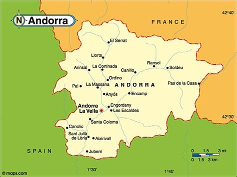 andorra on europe map map andorra surrounding countries