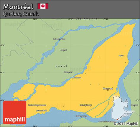 map of us and canada montreal free savanna style simple map of montr 233 al