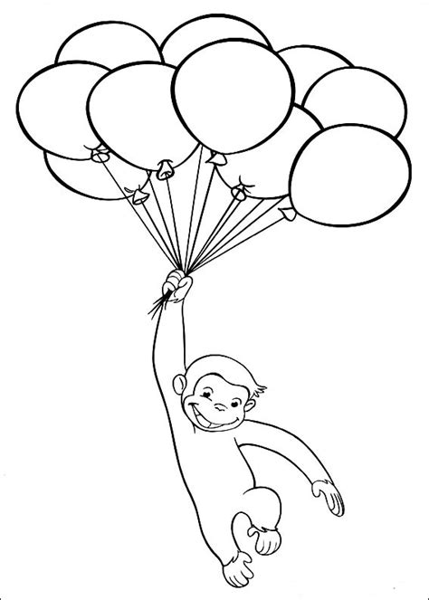 curious george coloring pages birthday curious george coloring pages free printable pictures