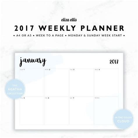 printable weekly planner landscape 117 best the agatha planners images on pinterest 2017