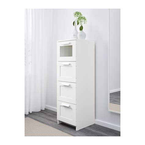 brimnes ikea brimnes chest of 4 drawers white frosted glass 39x124 cm