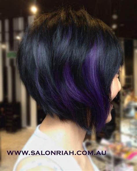 color or streaks in jlos hair stunning asymmetrical haircut in black with deep dark