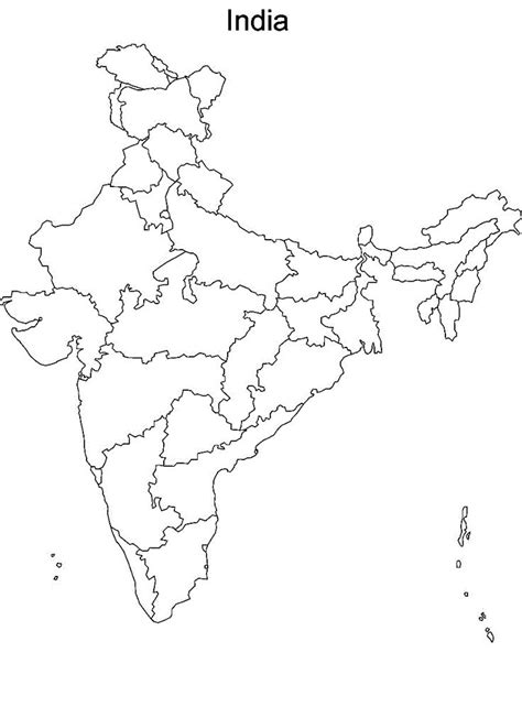 India River Map Outline Plain by 41 Best Map Of India With States Images On Cards Maps And India Map