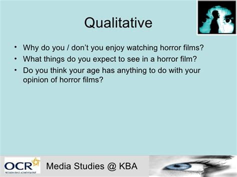 horror film questionnaire media codes and conventions in horror films