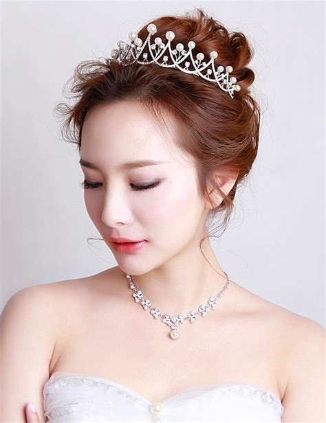 Wedding Hair Accessories Malaysia by Fashion Wedding Bridal Imitated Pearl Crown Hair