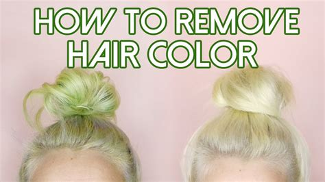 how to remove hair color stripping for stained hair