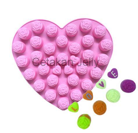 Cetakan Coklat Mini Fleur De Lis Sheet Diskon cetakan silikon coklat puding roses with cetakan jelly cetakan jelly