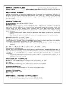 Resumes For Registered Nurses by Sle Resumes Resumewriting