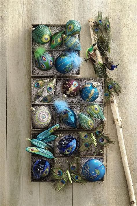 peacock christmas ornaments cheap 53 best peacock images on blue peacock tree and