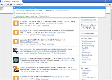 Search S Tweets Get Instant Search Results On As You Type From Chrome S Address Bar No