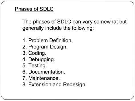 design definition in sdlc ppt on software development life cycle
