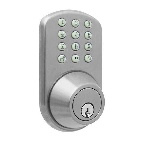 milocks keyless entry satin nickel deadbolt tf 02sn the