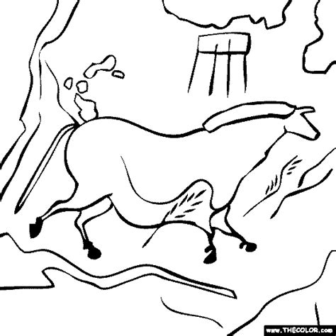 cave art coloring page famous places and landmarks coloring pages page 1