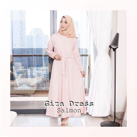 Dress Giza giza dress baju gamis wanita muslim polos murah model