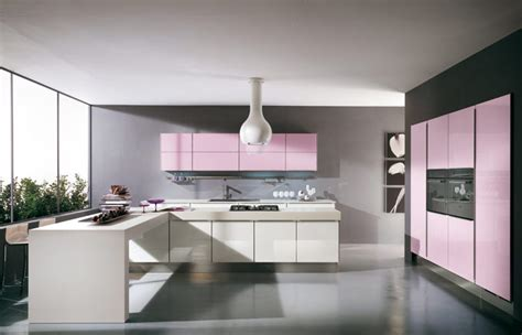 modern violet and pink kitchen by cucine lube digsdigs