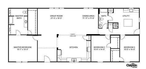 veranda floor plan floor plan for the veranda model scl32723aclayton homes