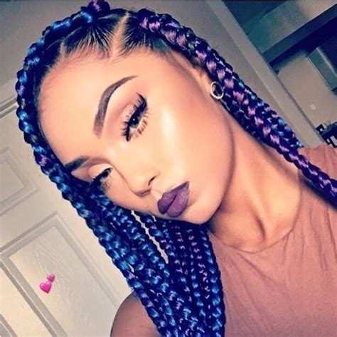 short individual twists navy 43 best hair color for dark skin that black women want 2018