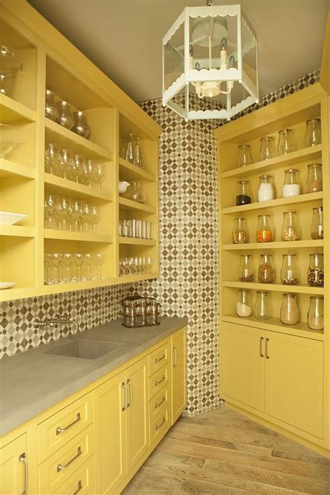 mustard kitchen cabinets mustard yellow kitchen pantry cabinets with concrete