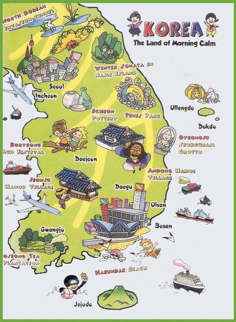 seoul map tourist attractions tourist map of south korea