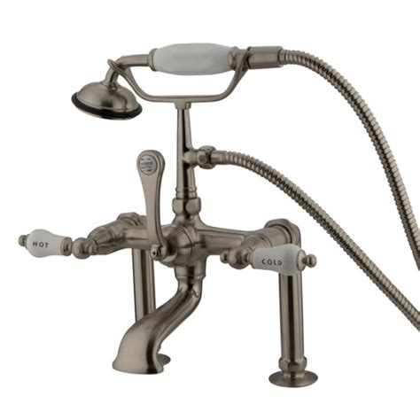 Brushed Nickel Clawfoot Tub Faucet by Kingston Brass Deck Mount Clawfoot Tub Faucet