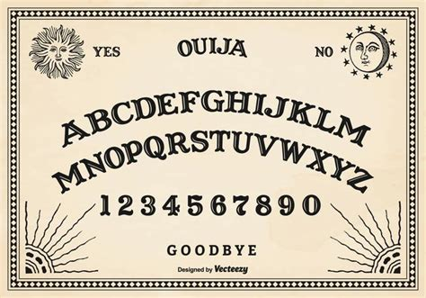 printable ouija board template free vector ouija board download free vector art stock