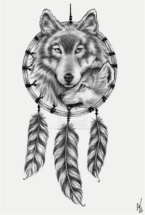wolf dreamcatcher tattoo 49 wolf designs and ideas