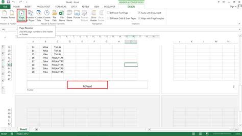 cara membuat header di excel 2003 cara memasukkan tanggal dan nomor halaman ke hasil