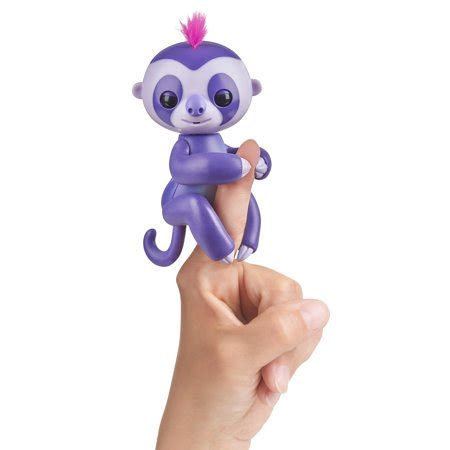 fingerlings interactive baby sloth (purple) by wowwee