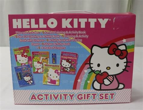 0137 Box Make Up Jumbo Hellokitty hello activity gift set box four color sticker word