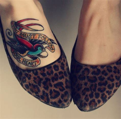20 sweet foot tattoos for girls creativefan
