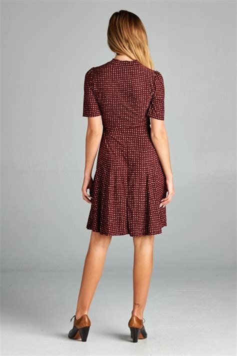 Dress Polka sleeve polka dot dress lazy caturday and unique