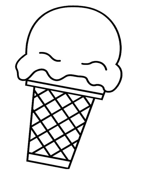 Ice Cream Coloring Pages For Kids Coloring Pages Coloring Pages Of Cones