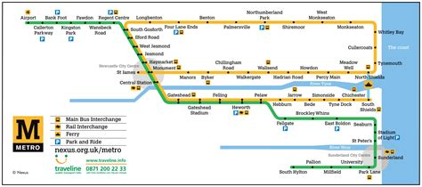 map uk metro nexus tyne and wear metro map