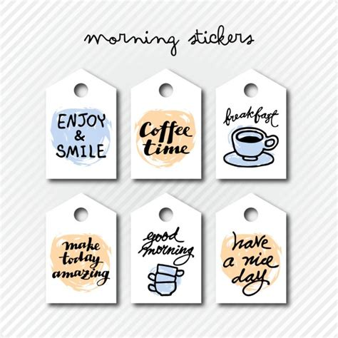 Morning Stickers Free morning stickers vector free