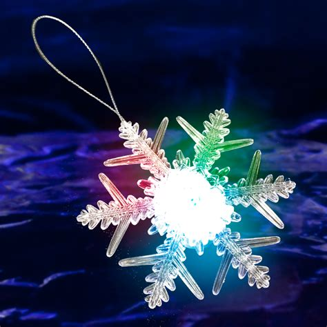 led snowflake ornament light up snowflake ornament