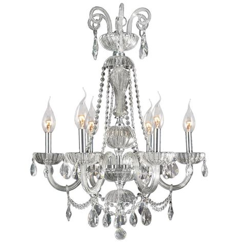 clea 3 light crystal chandelier home decorators collection 6 light chrome crystal