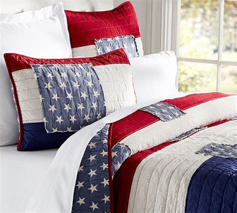 Patriotic Bedding by These Patriotic Bed Linens From Pottery Barn The