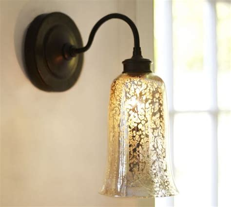 Mercury Glass Sconce brantley antique mercury glass sconce pottery barn