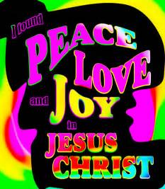 Retro christian art i found peace love and joy in jesus christ