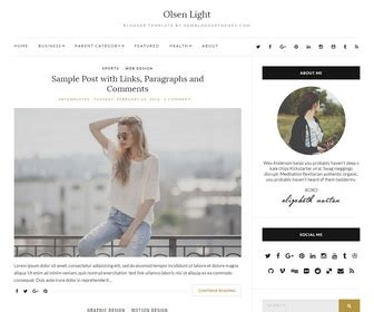 themes for tumblr fashion blogs olsen light blogger template newbloggerthemes com