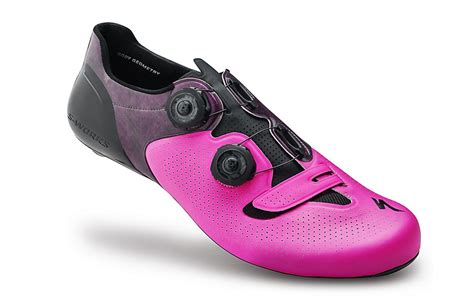 specialized s works 6 neon pink road shoes limited