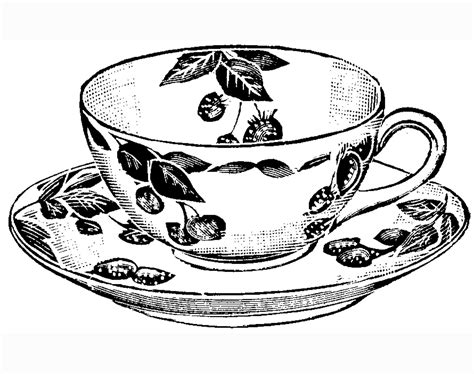 coloring pages tea cup