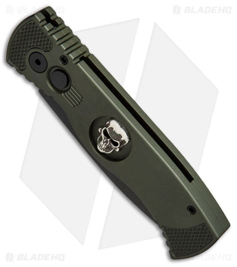protech auto knives protech tr 2 custom skull tactical response automatic