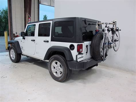 jeep wrangler arms jeep wrangler unlimited thule spare me 2 bike rack spare