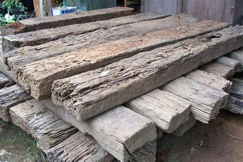 Reclaimed Sleepers reclaimed railway sleepers gogreen furniture indonesia