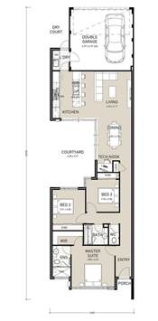 Floor Plans For Narrow Lots The 25 Best Ideas About Narrow House Plans On Pinterest