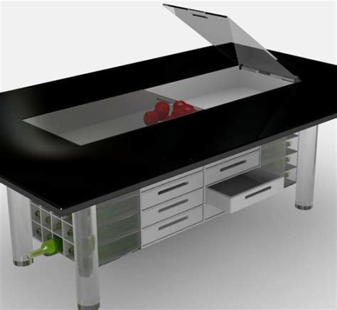 ego dining table set becomes storage to utilize idle