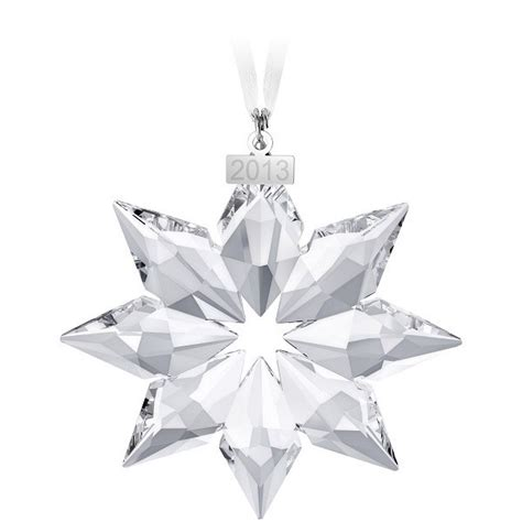 2007 swarovski crystal christmas snowflake star annual ornament swarovski 2013 annual edition snowflake ornament 5004489 ebay