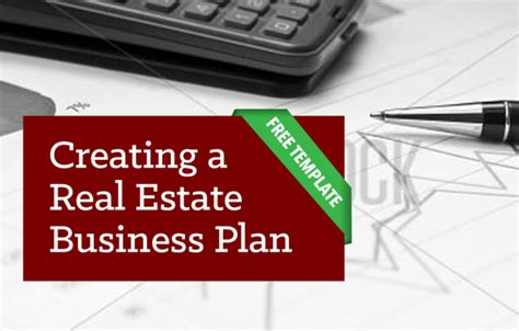 creating a real estate business plan free template