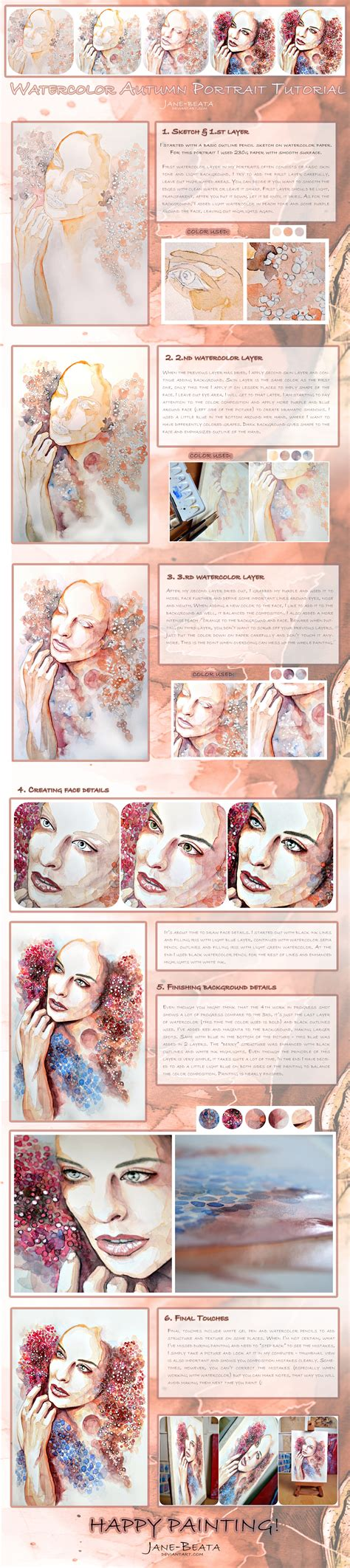 watercolor tutorial video download watercolor autumn portrait tutorial by jane beata on